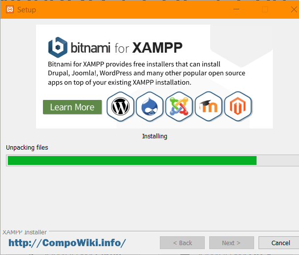 XAMPP - устанавливается ...